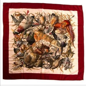 Gibiers Hermes Scarf by de Linares Cashmere/Silk
